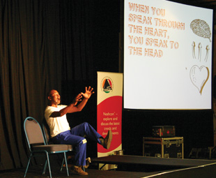 Speaking through the heart was just one of the messages from Unplugged Communications' brilliant presentation.