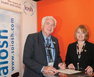 The signing of the Memorandum of Understanding by IOSH Executive Director of Membership Hazel Harvey and Saiosh President Robin Jones.
