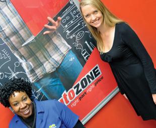 Drivers of success: Autozone shop steward and gender co-ordinator,l Roseline Nkgapele and HR Manager, Jean Lindsay.