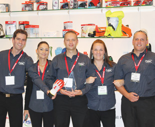 Frome left: Stevie Minnaar, national sales manager; Nathaly Banks, sales executive; Duane Basson, product support manager; Lauren Clueit, marketing manager and Johan Dippenaar, export sales manager.