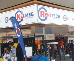 Renttech not only showcased its vast range of machinery and equipment, but also a full range of PPE.