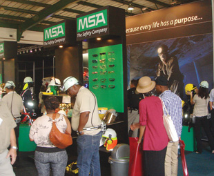 The MSA stand hosted in-depth and interactive presentations on various products.
