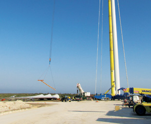 Vanguard provides a lift for wind energy project