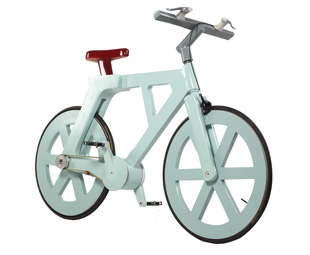 """BELOW: The """"Alpha"""" bicycle is made out of 100-percent recycled materials."""