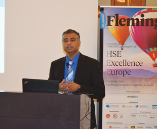 R Mukund (above), founder and CEO of Gensuite, also spoke at the conference.