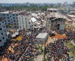 During 2013, 1 134 people were killed when the Rana Plaza garment factory, in Bangladesh, collpased.