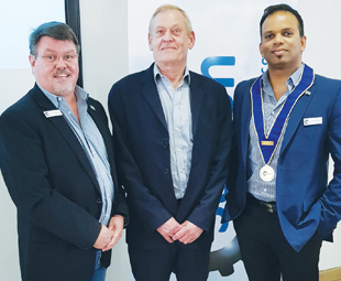 Adv. Raynard Looch, managing member of Klass Looch Associates, was the guest speaker at all the workshops. He is pictured with Saiosh CEO Neels Nortjé (left) and Saiosh president Sanjay Munnoo.
